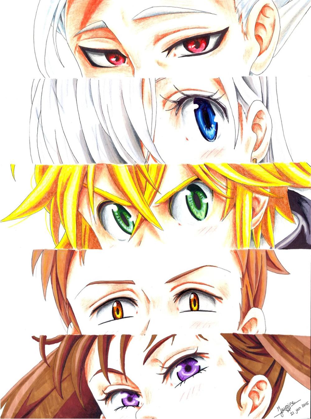 Nanatsu No Taizai Photo: Ban. Elizabeth, Meliodas, King. Diane ?