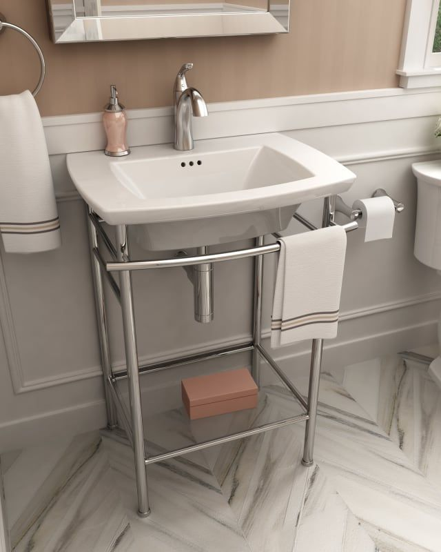 American Standard 0445 199 Console Sink Small Bathroom