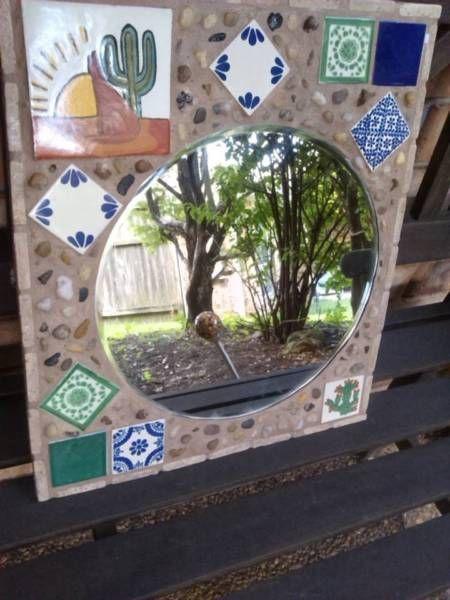 Decorative Tiles Australia Mexican Mirror Wall Mirror Home Décor Wall Art Tile Art