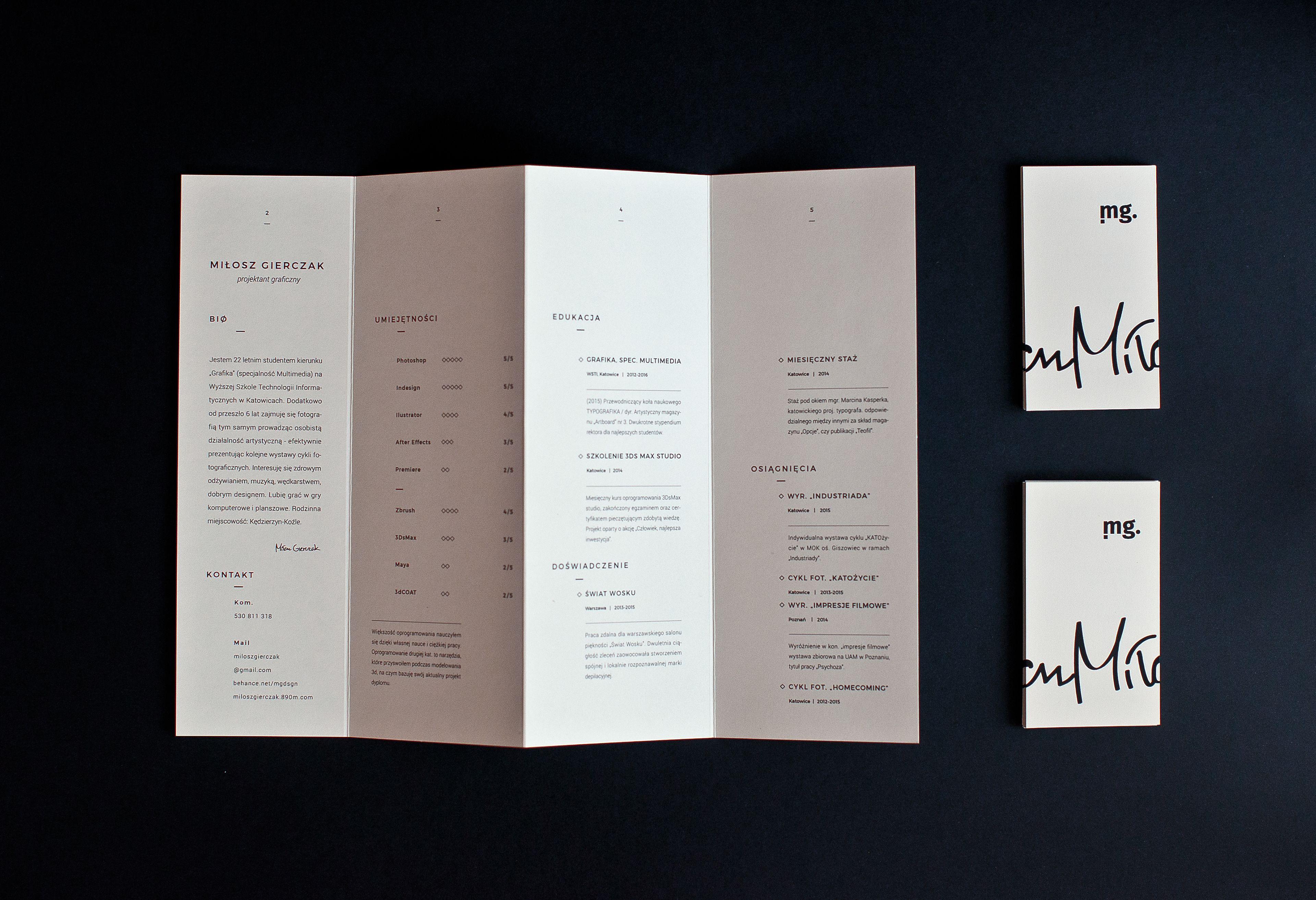 cv folder mailer quadfold brochure self prom on behance