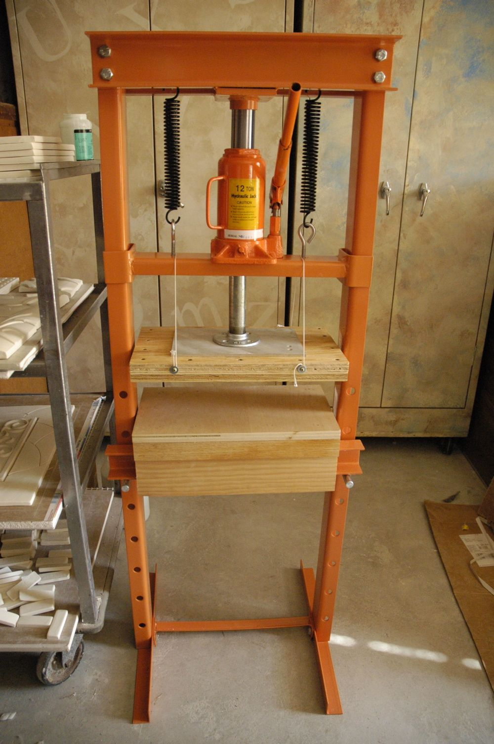 Hydraulic Tile Press Hydraulic Tiles Diy Tile Hydraulic Shop Press