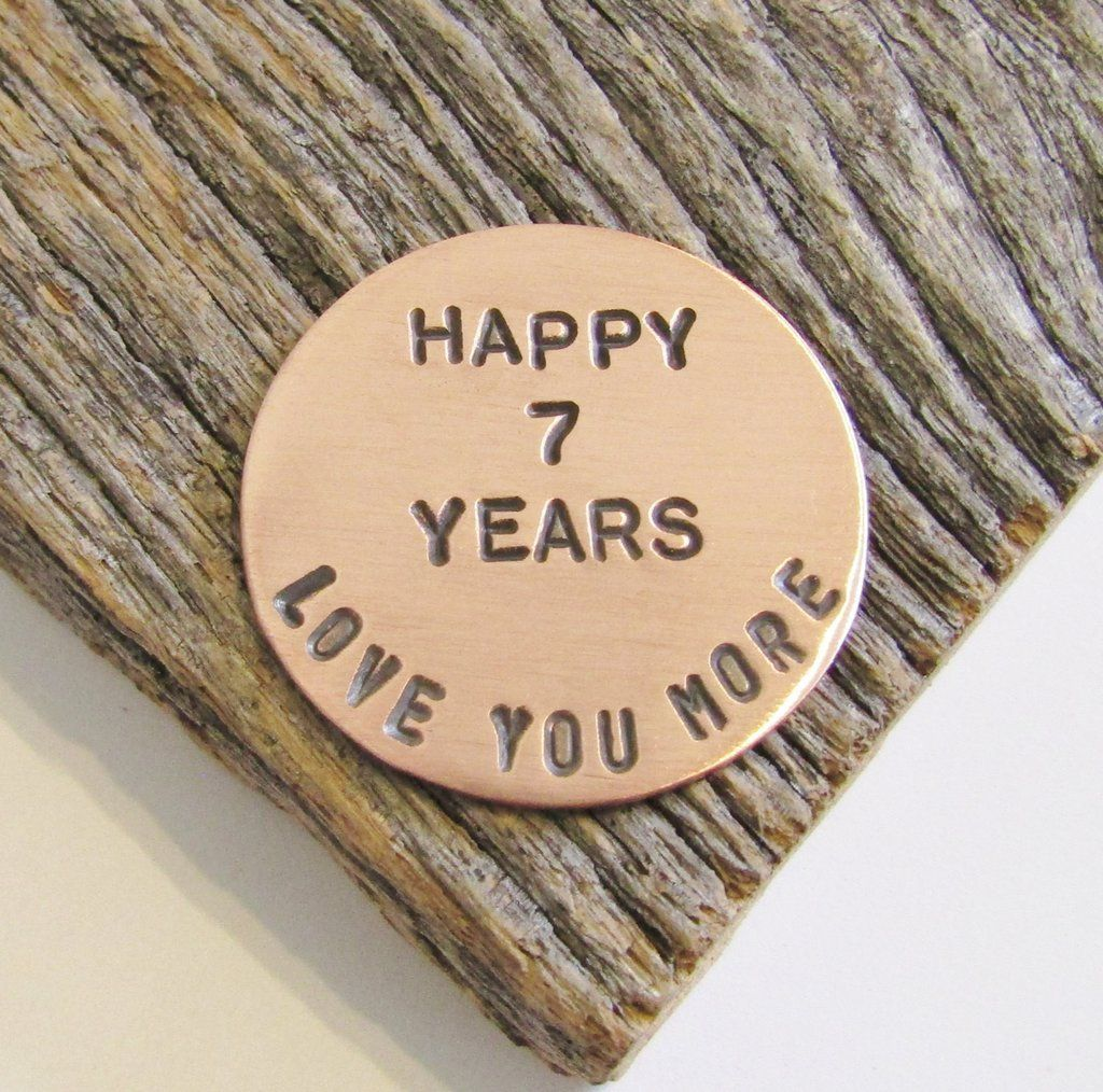 Gifts for Her 7th Anniversary Golf Ball Marker for Husband 7 Year Anni – C  and T Custom Lures aa65c7a1e264