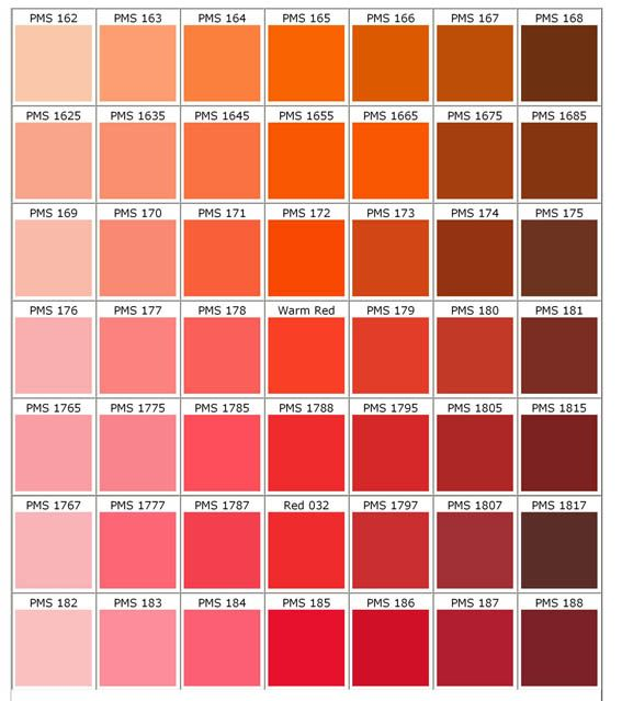 Sample Pantone Color Chart Pantone Color Chart Executive Apparel - sample pms color chart