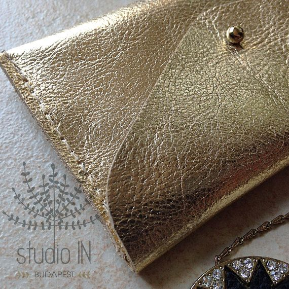 Minimal design gold leather business card holder leather card minimal design gold leather business card holder leather card holder gold leather mini envelope wallet coin purse leather envelope purse reheart