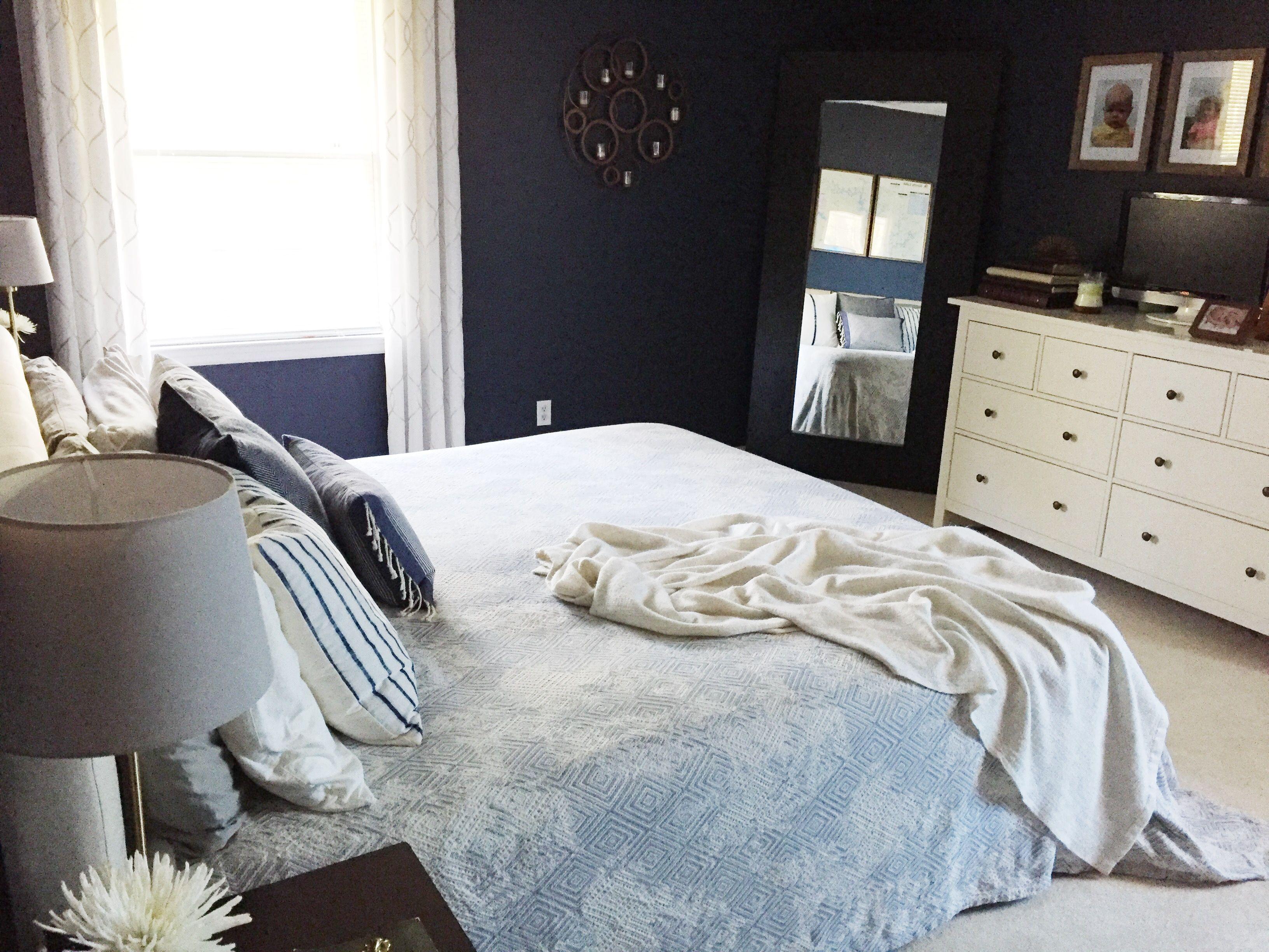 beach master bedroom, hale navy, Ikea hemnes, livingoncrust ...