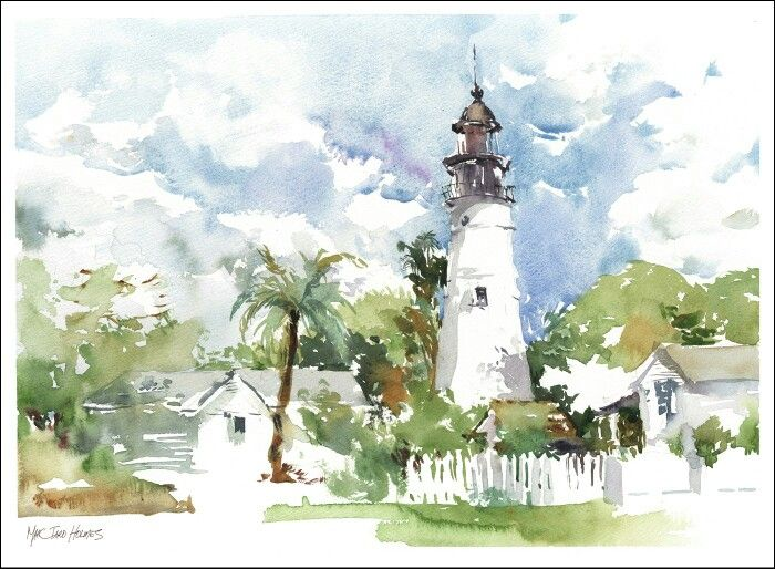 Marc Taro Holmes Watercolor Florida With Images Watercolor