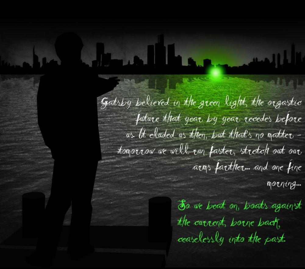 the green light in the great gatsby quotes