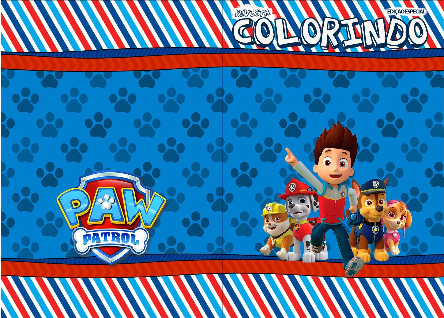 Capa Livrinho para Colorir do Patrulha Canina | Patrulha ...