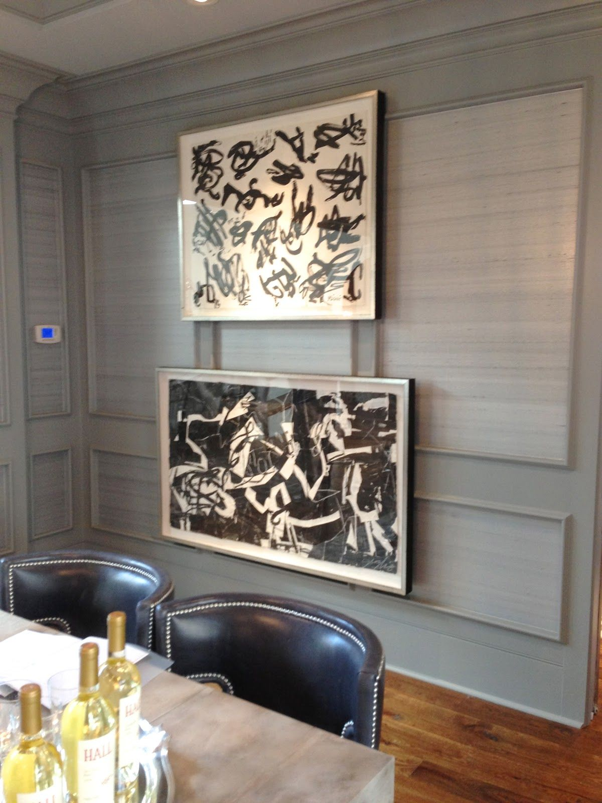 Design Indulgence Ahl Christmas Showhouse Wallpaper In The Picture Frame