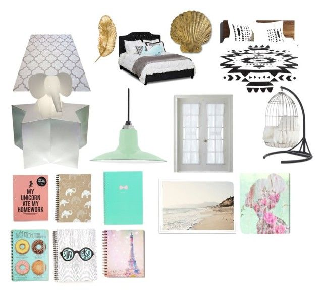 """""""Untitled #3"""" by disneygirlfaith on Polyvore featuring interior, interiors, interior design, home, home decor, interior decorating, CB2, Mitchell Gold + Bob Williams, Currey & Company and Shine by S.H.O"""