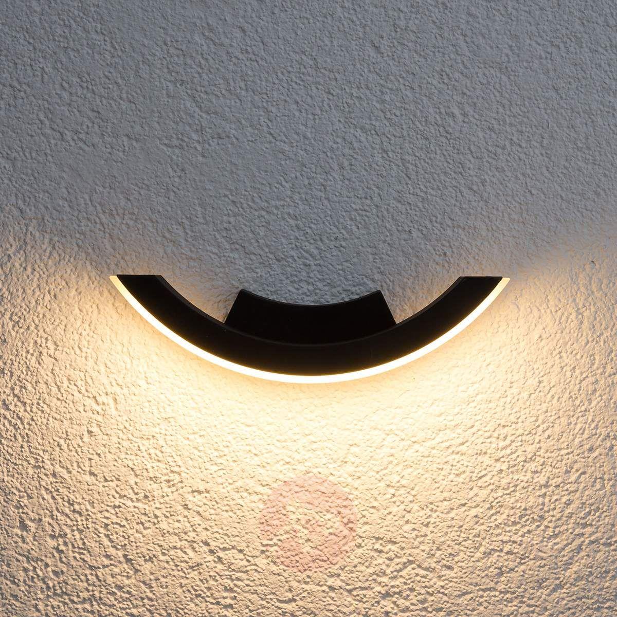 Grafitowa Zewnętrzna Lampa ścienna Led Half Lampy Wiszące