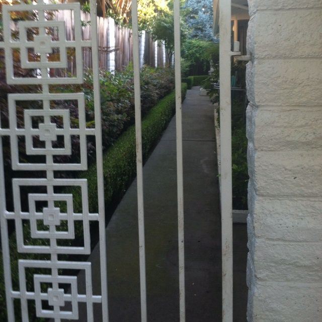 Mid Century Modern Iron Gates Mid Century Iron Love The