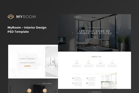 MyRoom - InteriorDesign PSD Template @creativework247   Website ...