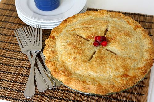 Tracey's Culinary Adventures: Apple-Cranberry Pie