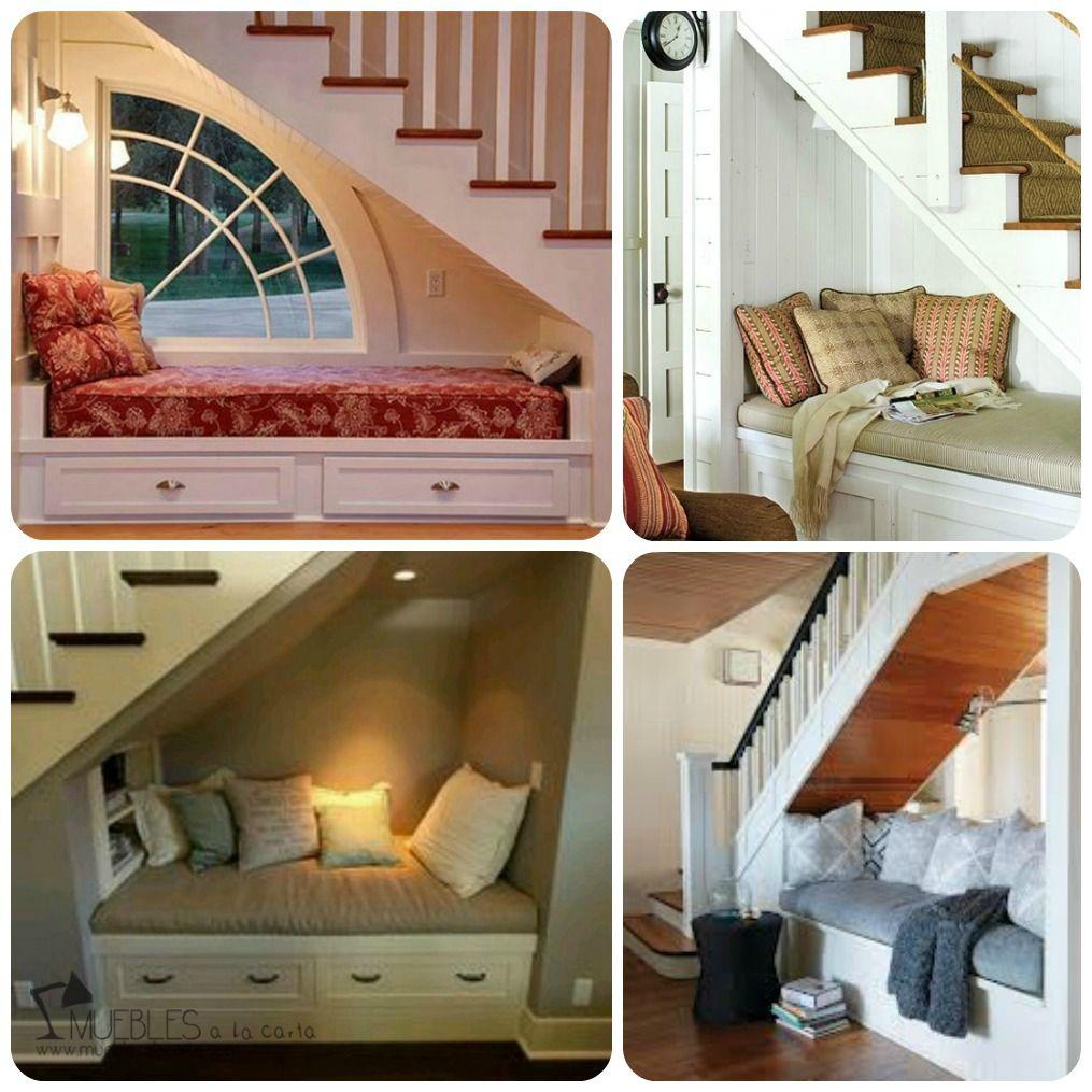 03 rincon de lectura bajo escalera decorar hueco for Huecos de escaleras modernos