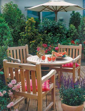 Una Terraza Bien Decorada Muebles Decoración De Unas