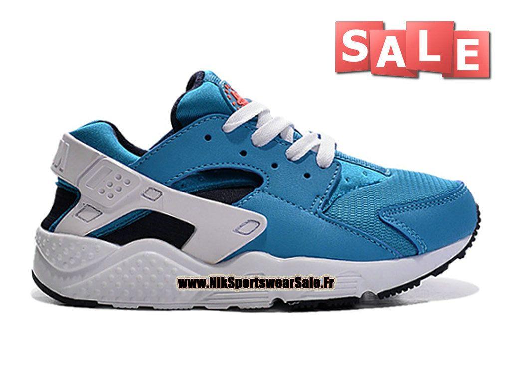 f50ab9a86f4f6 Nike Huarache Run (PS) - Chaussure Nike Sportswear Pas Cher Pour Petit  Enfant(Taille 28-35) Bleu photo Noir Orange total Blanc 704951-401