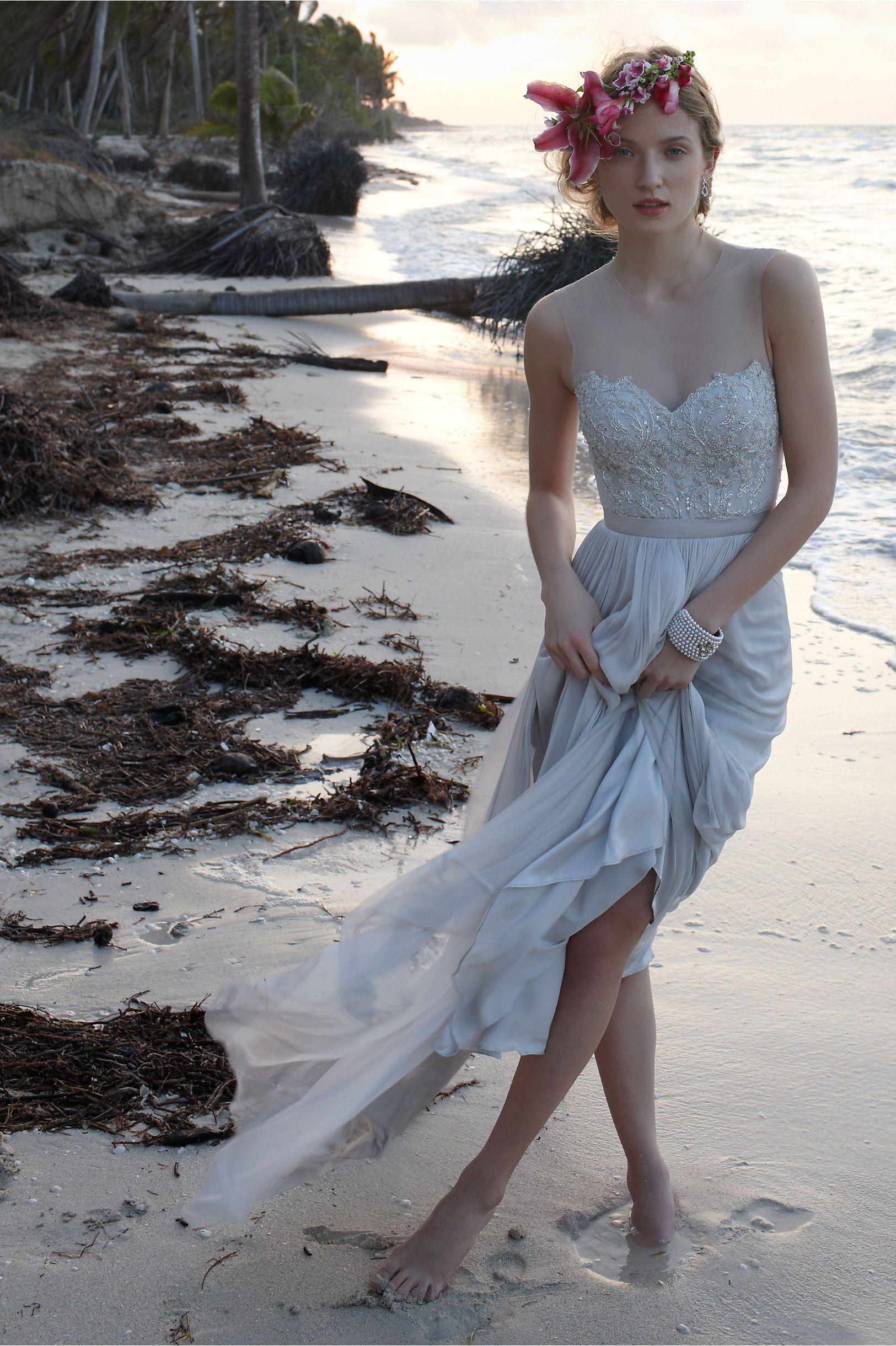 Back detail wedding dress  Vivienne Gown in Bride Wedding Dresses Back Detail at BHLDN