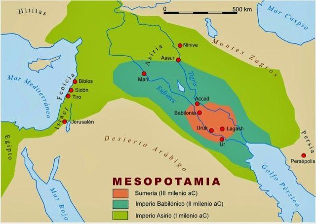 Resultado De Imagen Para Sumeria Mapa Antigua Mesopotamia