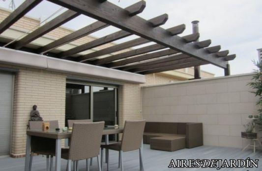 Pergolas de madera y policarbonato buscar con google for Materiales para terrazas