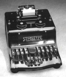 stenotype machine