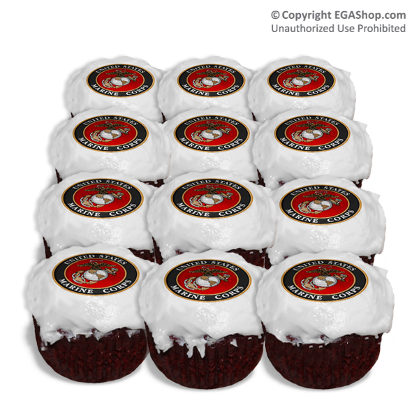 MARINE CORP PARTY IDEA IMAGES Cake Topper Cupcake
