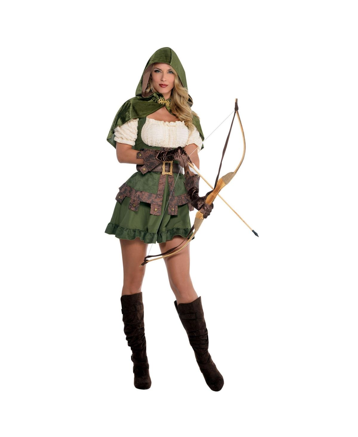Robin Hood Hat Brown Medieval Fancy Dress Halloween Adult Costume Accessory