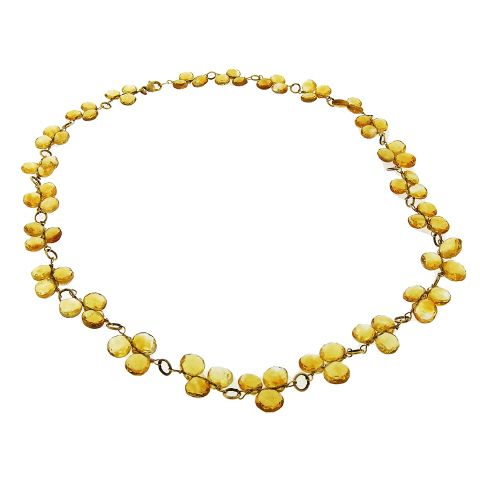briolette ci hurlbut toni products necklace citrine faceted fac page