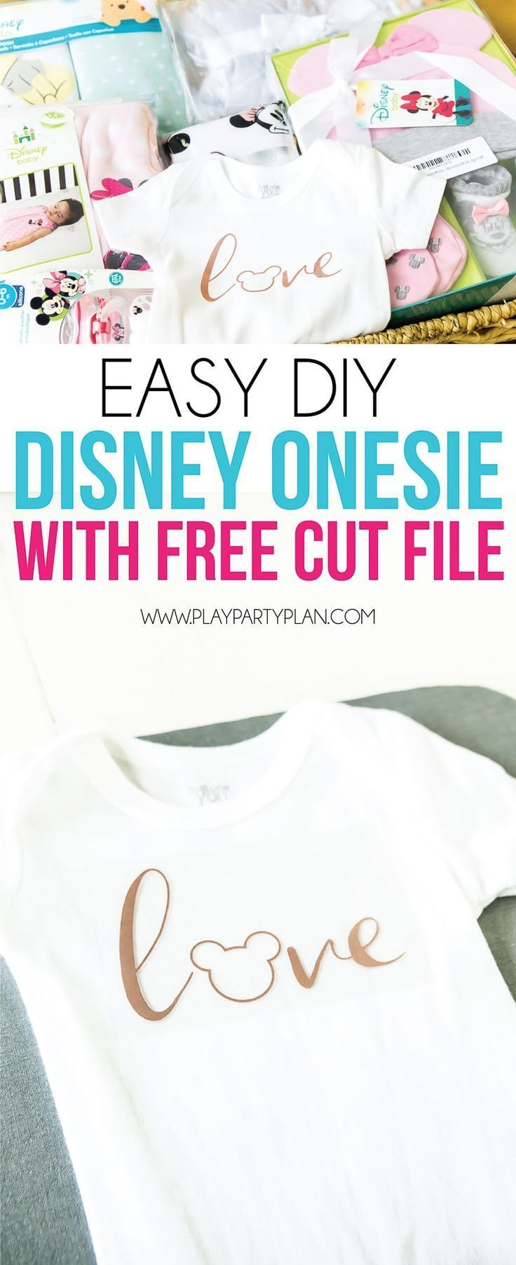 Easy Disney Onesie With A Free Cut File The Cutest Baby
