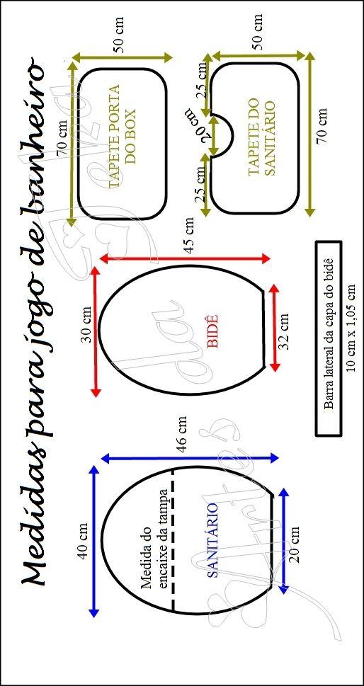 Patrón para crear juego de baño en patchwork | reno | Pinterest ...
