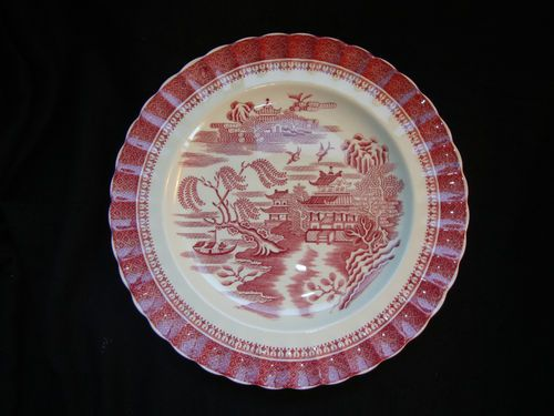 Antique Copeland Spode Pink Red Willow Mandarin Dinner Plate & DUXTOP Portable Ceramic Infrared Cooktop | Red dinnerware Teacup ...