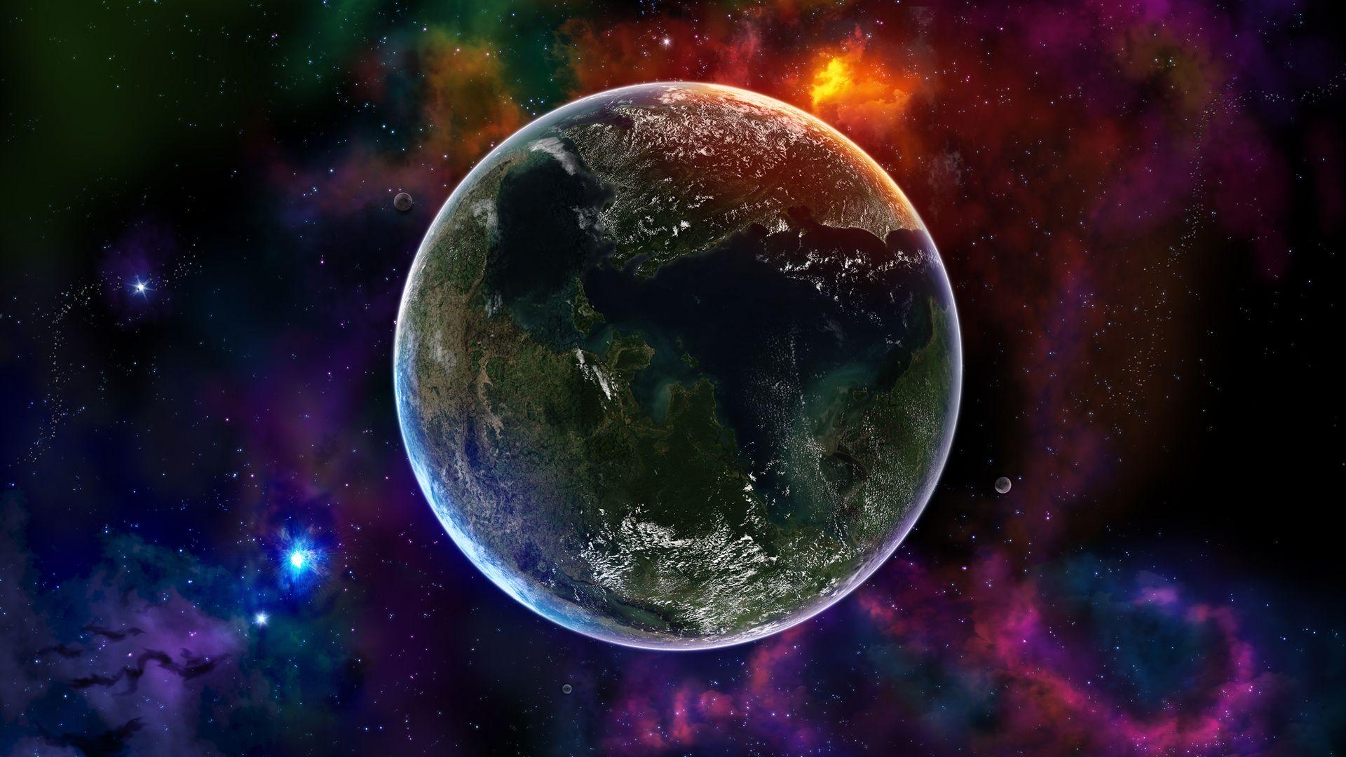 Fond D Ecran Hd Espace Planete Fond Ecran Gratuit Fond