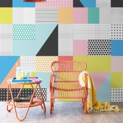 Sentiments Wallpaper, Inspirded by Memphis Design #memphisdesign
