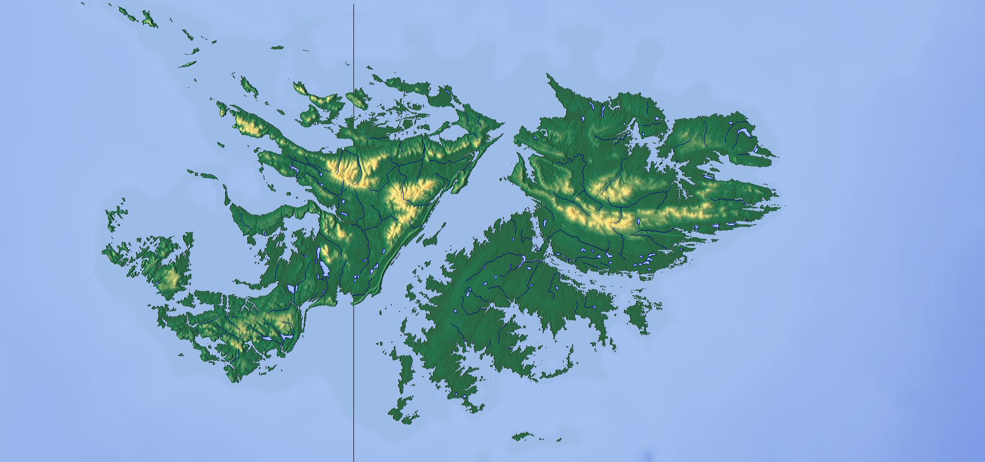 Topographic map of the Falkland Islands MAPS Pinterest