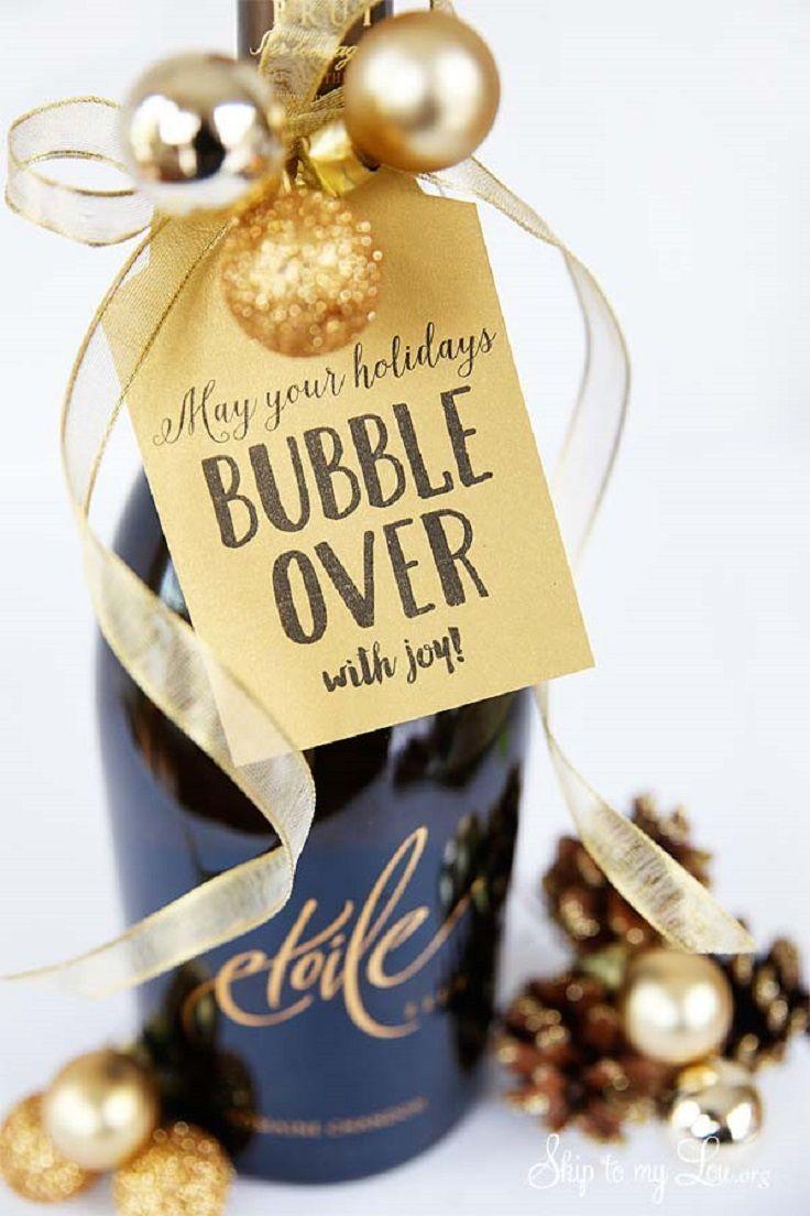 Champagne Christmas Gift Printable - 19 Super Fun DIY ...