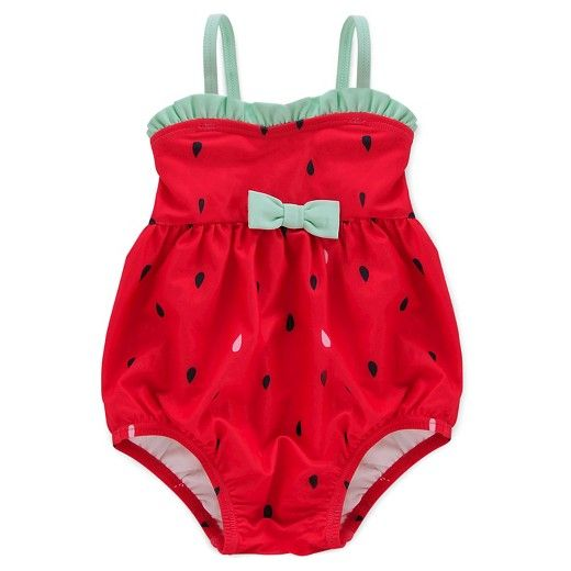 Baby Girls\' Watermelon Bubble Suit Circo™ - Red : Target | Little ...