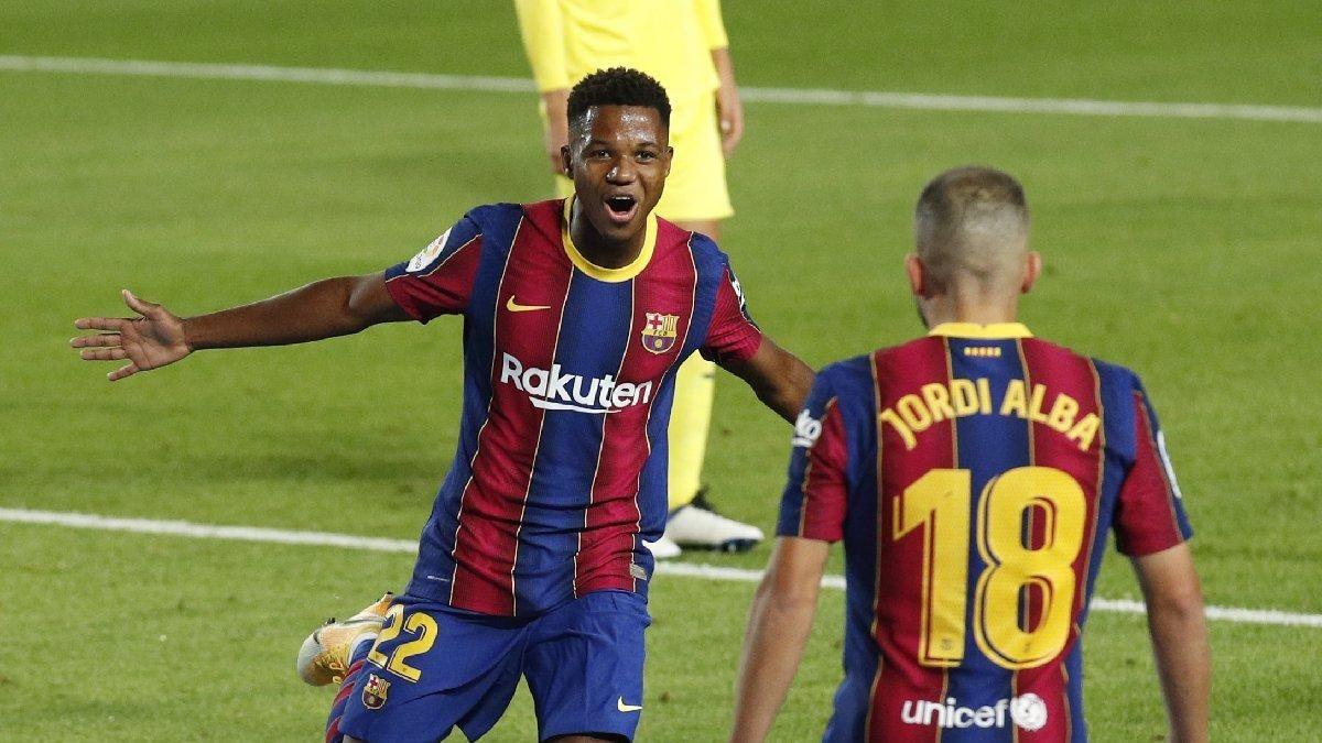 Barcelona Nin 17 Lik Yildizi Ansu Fati La Liga Da Sezona Muhtesem Bir Baslangic Yapti Barcelona Nin Villareal I 4 0 Maglup Ettigi Ma