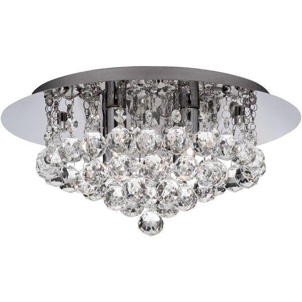 House Of Fraser Christabel 4 Light Flush Ceiling Crystal Ceiling Light Low Ceiling Lighting Ceiling Lights