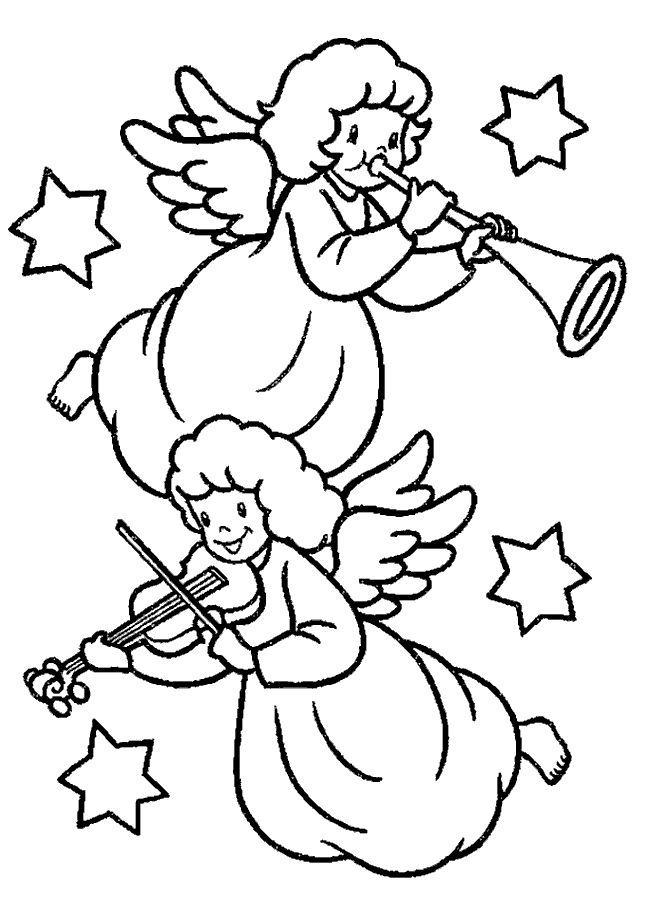 der engel die engel  malvorlagen weihnachten