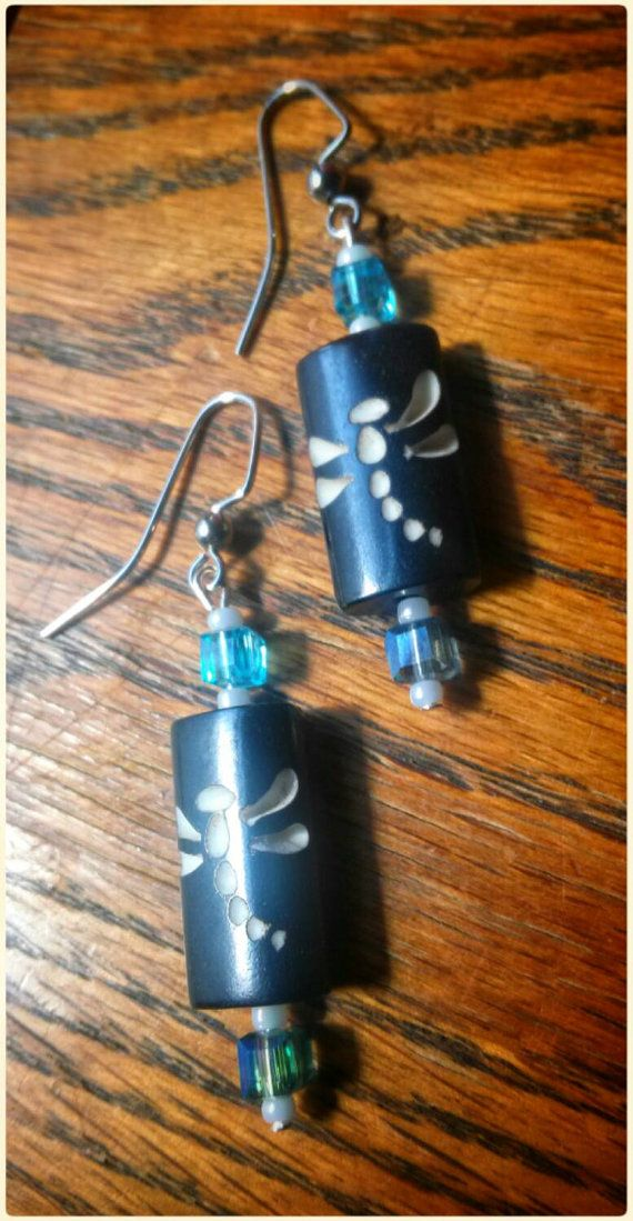 Check out this item in my Etsy shop https://www.etsy.com/listing/229526680/dragonfly-and-glass-bead-earrings