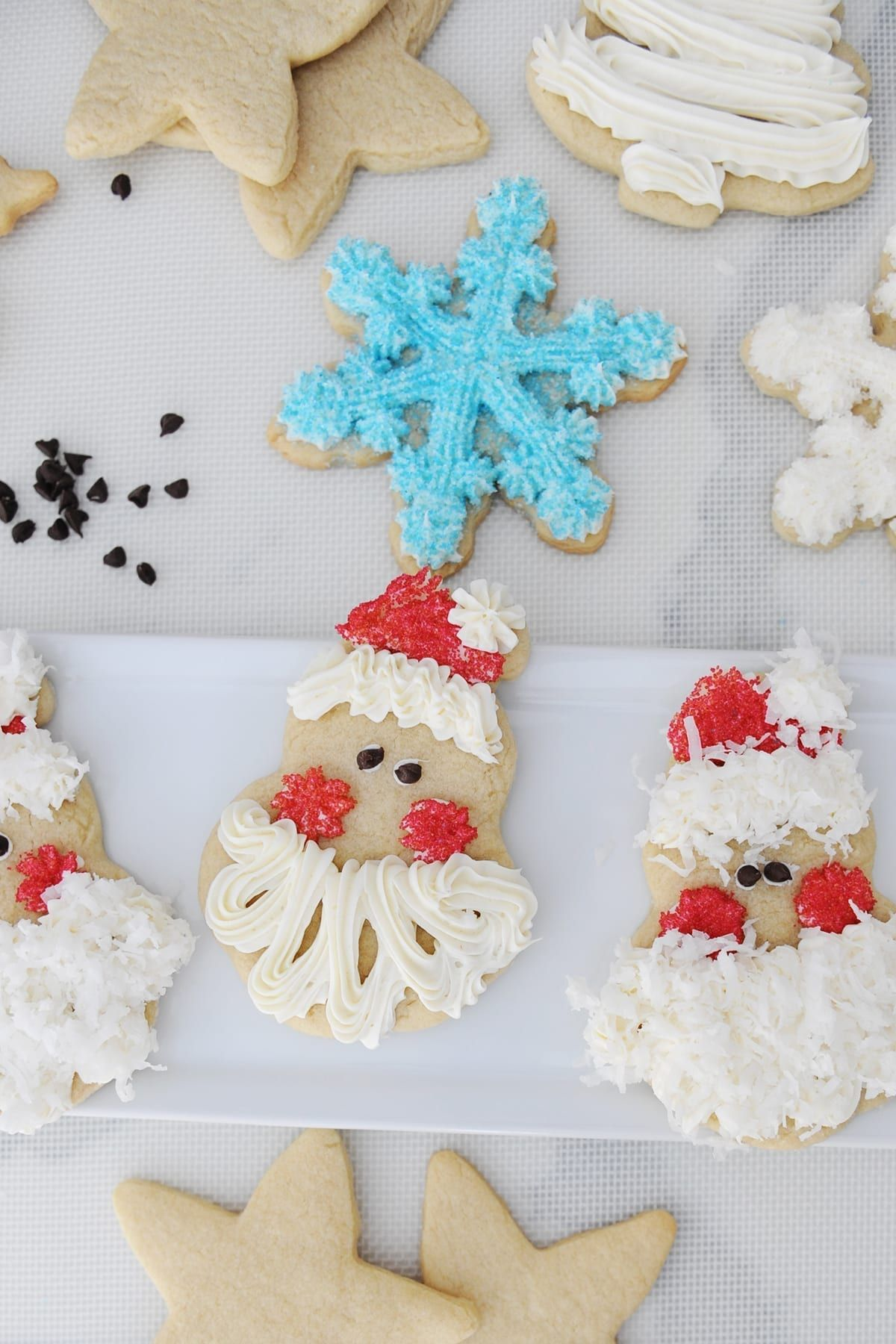 How To Decorate Easy Santa Face Christmas Cookies Recipe