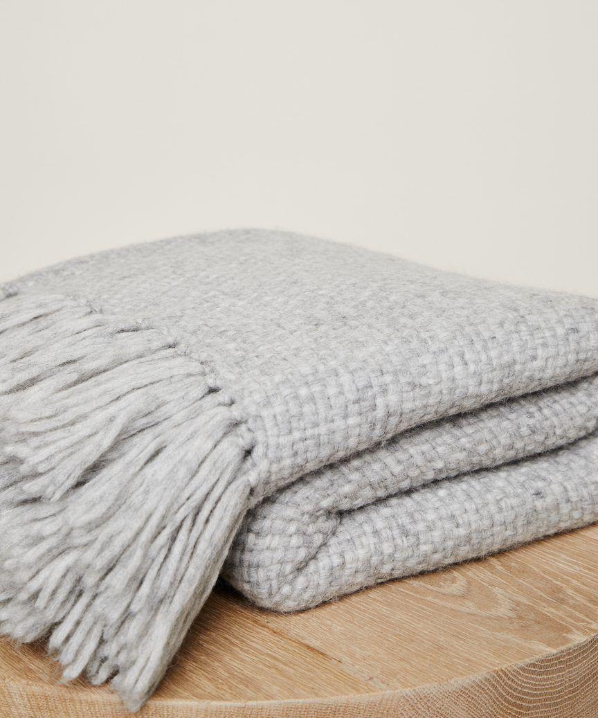 Alpaca Basketweave Throw Light Grey Grey Throw Blanket Grey Sofa Throw Bed Throws