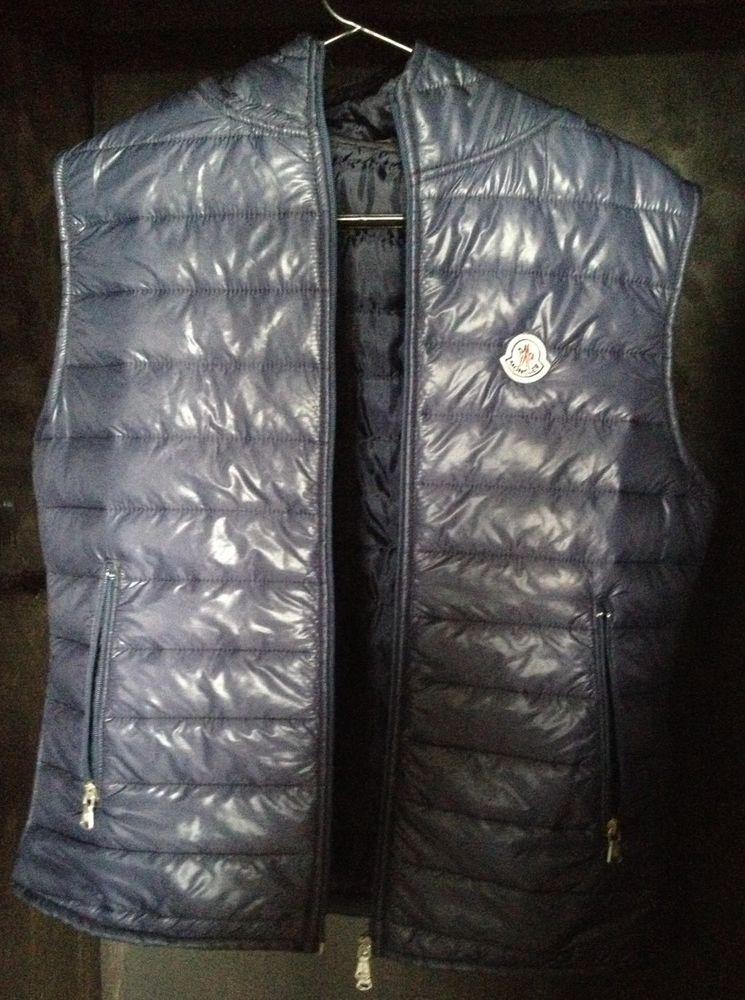 c0ee7c840 Moncler Men s Patrick Gilet Size 3 Medium Blue Body Warmer 100 ...