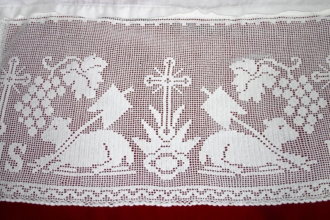 St. Anne Quilting and Sewing: Alb with Filet Crochet | RELIGIOSO ...