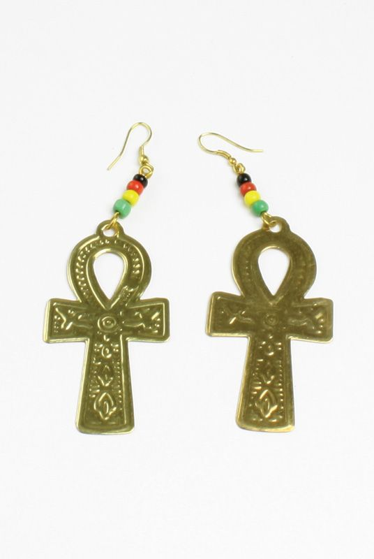 Gold Ankh Earrings Celebrate The Symbolism Of Africa While Your