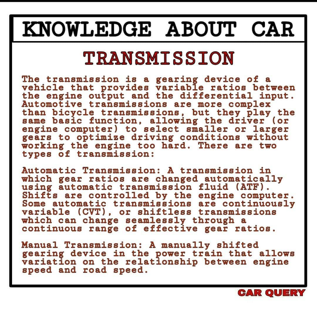 Follow Us For More Information Car Query Transmission Automatic Automatictransmission Manual M In 2020 Transmission Manual Transmission Bike News