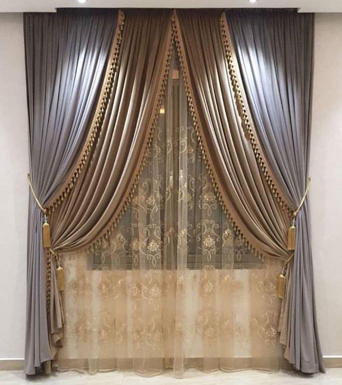 Elegant Curtain Display Living Room Decor Curtains Luxury