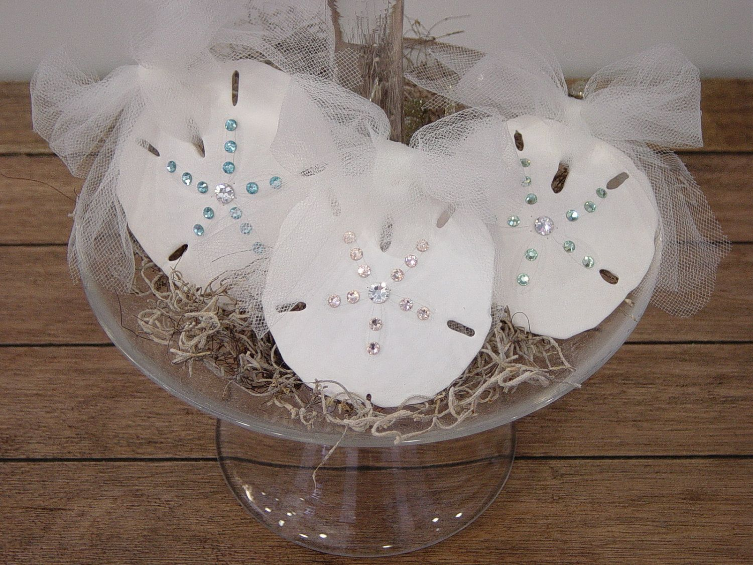 So Pretty! Crystal Sand Dollar \'Starburst\' - Beach Decor or Wedding ...