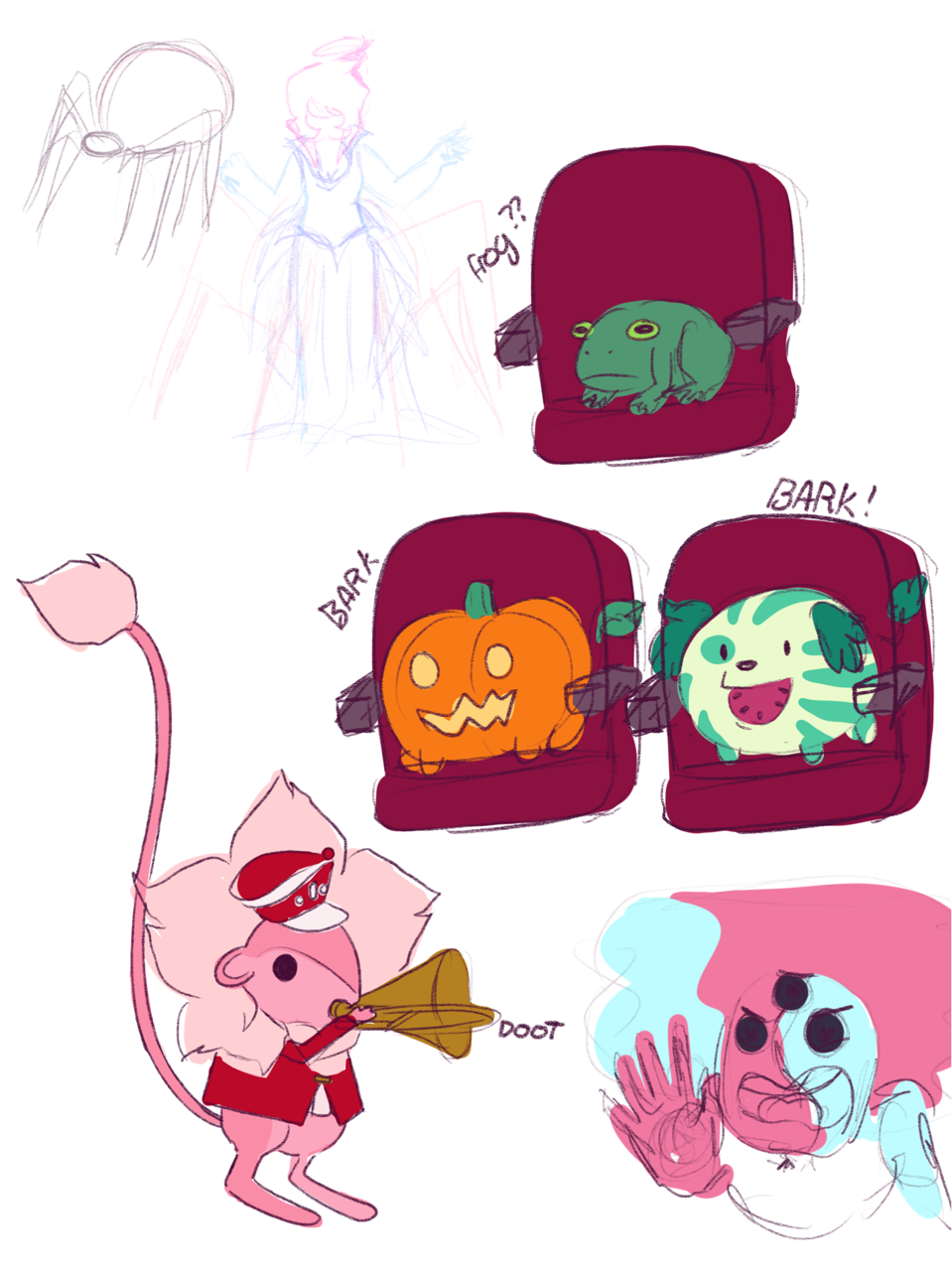 Also Here S Some Doodles For The Coraline Au Steven Universe Steven Universe Au Coraline