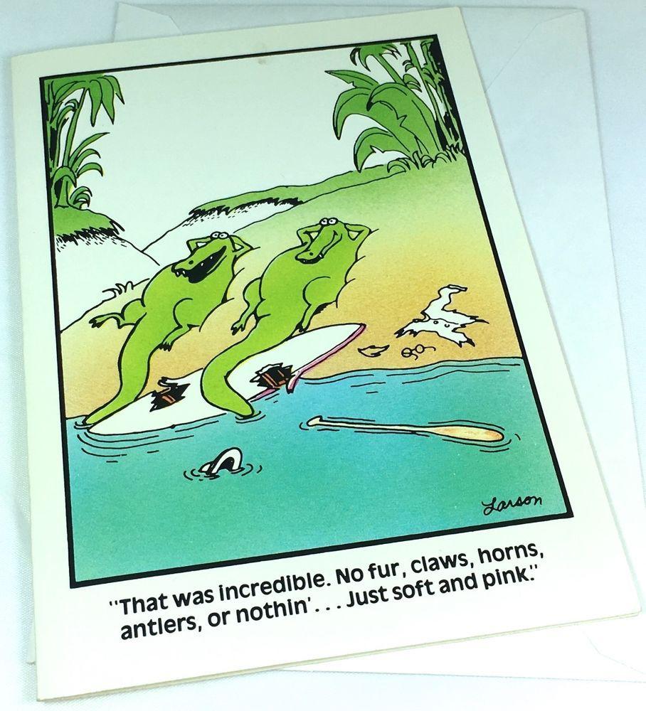 Unused vtg greeting card the far side alligators surfer funny unused vtg greeting card the far side alligators surfer funny m4hsunfo
